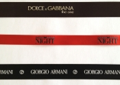 Chanel, Calvin Klein, Armani, Dolce & Gabbana Ribbon Samples