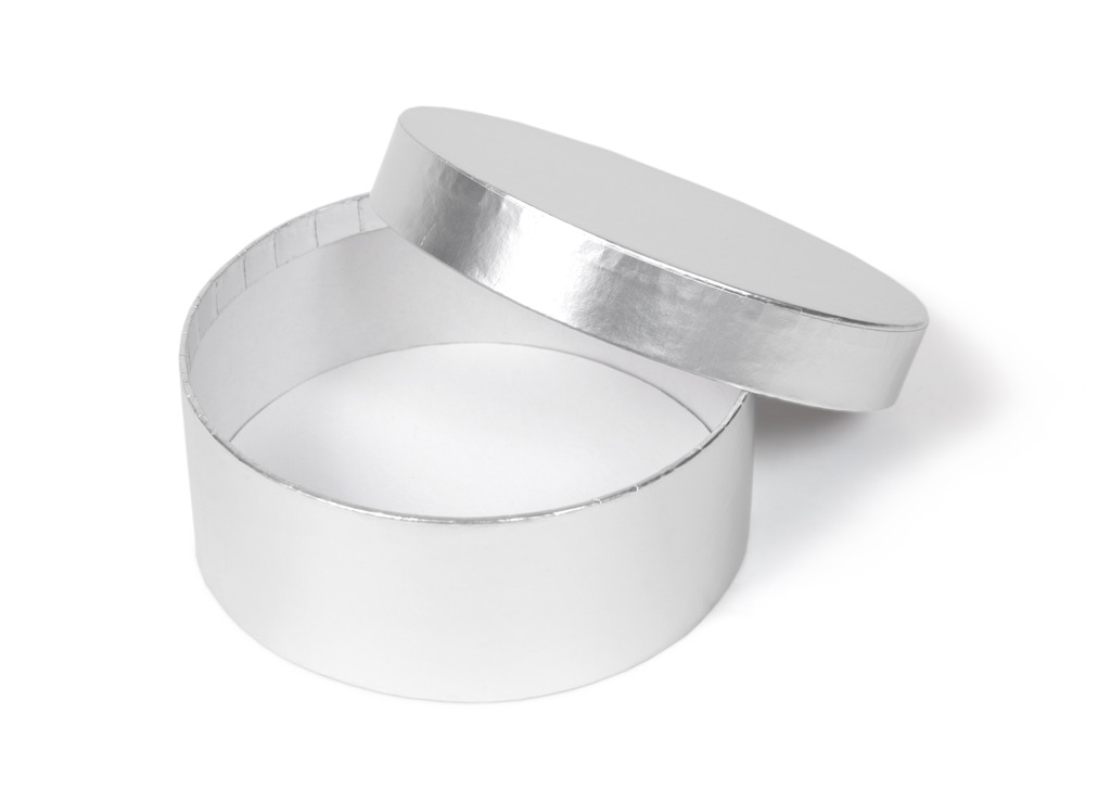 Silver Circular Rigid Box