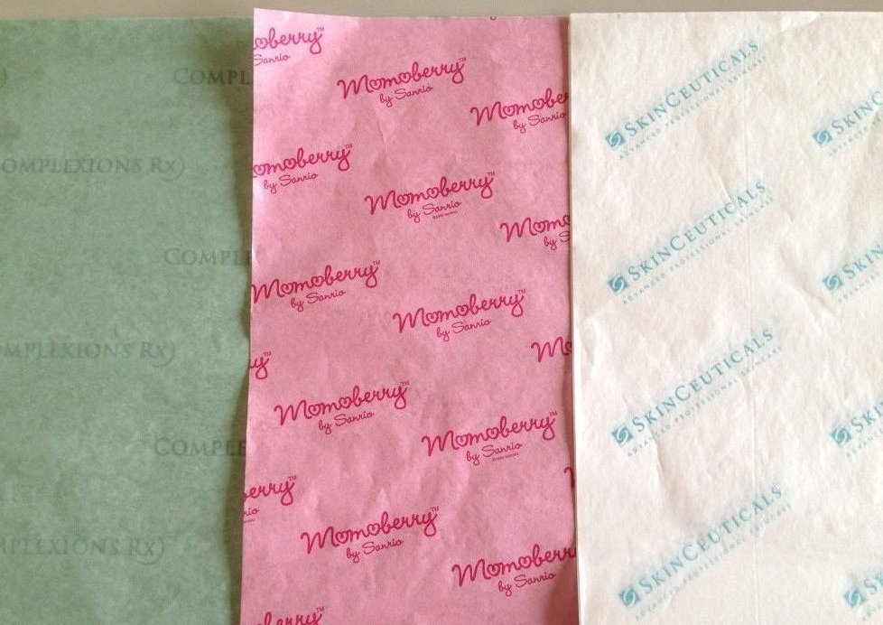 Skinceuticals, Momoberry and Complexions Rx Tissue Paper Samples